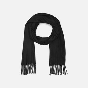 The Limited Black Scarf Soft Acrylic Fringe Winter